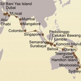 Coral Sea India and Arabia Itinerary