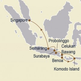 Gems of the Java Sea II Itinerary