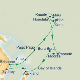 Hawaii Tahiti and South Pacific Itinerary