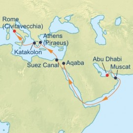 Suez Canal Itinerary