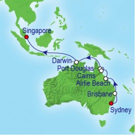 Asia Repositioning Itinerary