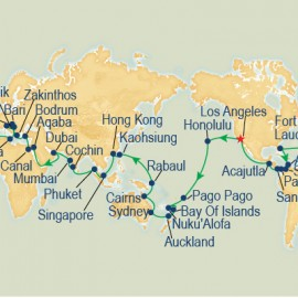 World Cruise Round Trip Los Angeles Itinerary