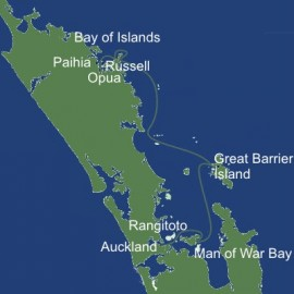 Bay of Islands to Auckland Cruise