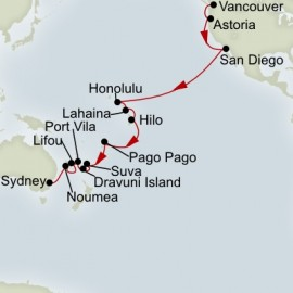 South Pacific Crossing Cruise