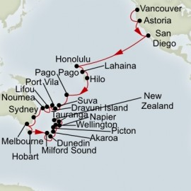 South Pacific Australia and New Zealand Collector Holland America Line Cruise
