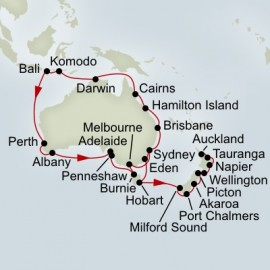 Australia Circumnavigation and New Zealand Collector Holland America Line Cruise
