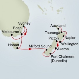Australia and New Zealand Collectors Holland America Line Cruise