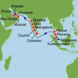 Southeast Asia and India Itinerary