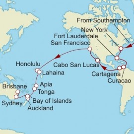 Southampton to Brisbane World Sector Cunard Cruise