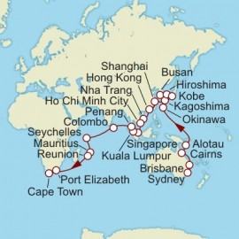 Sydney to Cape Town World Sector Cruise