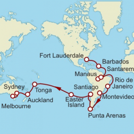 Fort Lauderdale to Melbourne World Sector Cruise