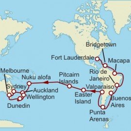 Fort Lauderdale to Wellington World Sector Cunard Cruise