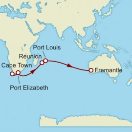 Cape Town to Fremantle World Sector Itinerary
