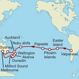 Valparaiso to Wellington World Sector Itinerary