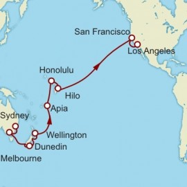 Sydney to Los Angeles World Sector Itinerary