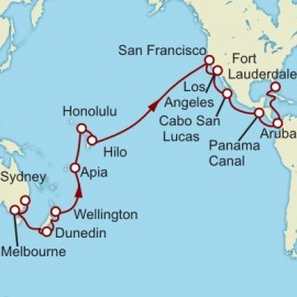 Sydney to Fort Lauderdale World Sector Itinerary