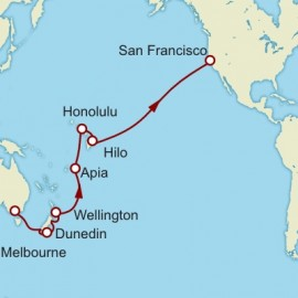 Melbourne to San Francisco World Sector Cruise