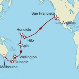 Melbourne to Los Angeles World Sector Cruise