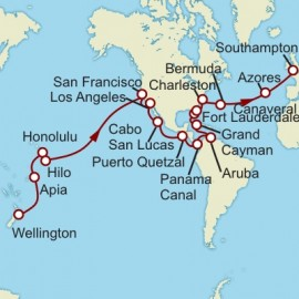 Wellington to Southampton World Sector Itinerary