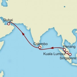 Singapore to Dubai World Sector Itinerary