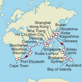 World Cruise Auckland to Cape Town Sector Cruise