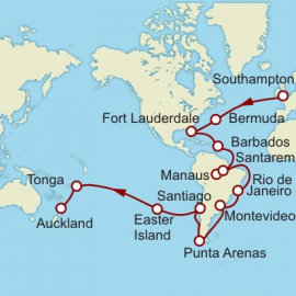 Southampton to Auckland World Sector Cruise