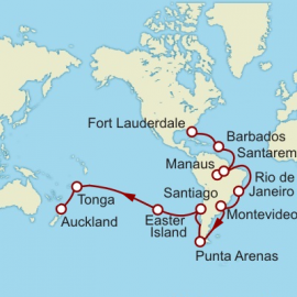 Fort Lauderdale to Auckland World Sector Cruise