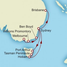 Melbourne to Brisbane World Sector Cruise