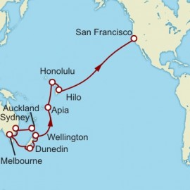 Auckland to San Francisco World Sector Cunard Cruise
