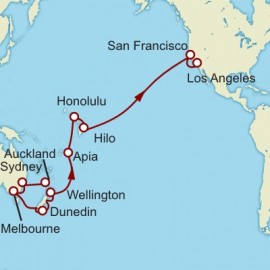 Auckland to Los Angeles World Sector Cunard Cruise