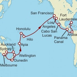 Auckland to Fort Lauderdale World  Sector Cunard Cruise