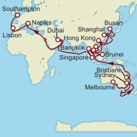 Melbourne to Southampton World Sector Cruise