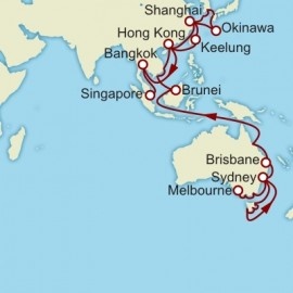 Melbourne to Singapore World Sector Cruise