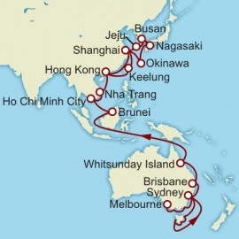 Melbourne to Hong Kong World Sector Cruise