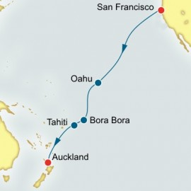 San Francisco to Auckland World Sector Cruise