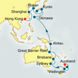 Auckland to Hong Kong World Sector P&O Cruises UK Cruise