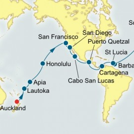 Auckland to Southampton World Sector Cruise