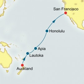 Auckland to San Francisco World Sector P&O Cruises UK Cruise