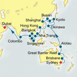 Sydney to Dubai World Sector Cruise