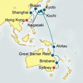 Sydney to Hong Kong World Sector Cruise