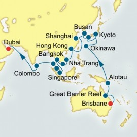 Brisbane to Dubai World Sector Cruise