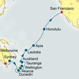 Melbourne to San Francisco World Sector Itinerary
