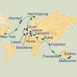 Sydney to New York World Sector Itinerary