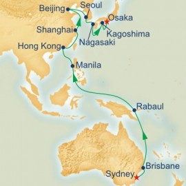 Circle Pacific Sydney to Osaka Itinerary