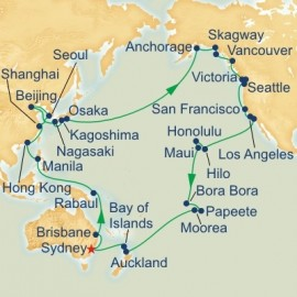 Circle Pacific Roundtrip Sydney Cruise