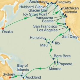 Circle Pacific Liner Osaka to Sydney Sector Itinerary