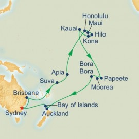 Hawaii Tahiti and South Pacific Cruise