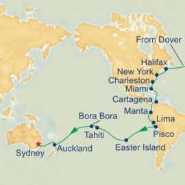 Dover to Sydney World Sector Princess Cruises Cruise