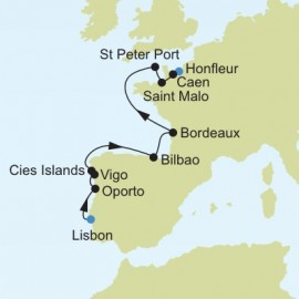 Lisbon to Honfleur Itinerary