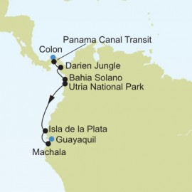 Colon to Guayaquil Itinerary